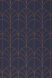 Papier peint Ninon bleu saphir