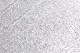 Wallpaper Reptile 01 Shimmering Imitation leather White aluminium