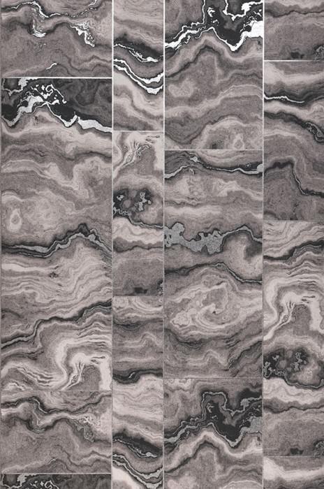 Wallpaper Medea Matt Imitation marmor Grey tones Silver lustre