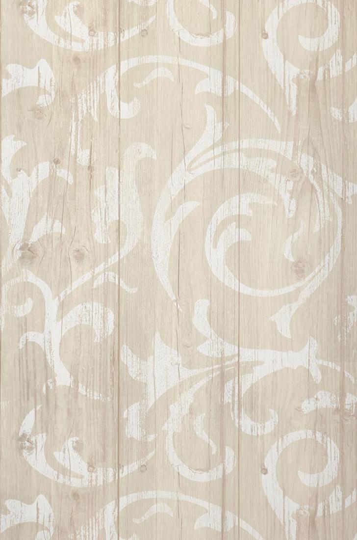 Carta da parati medusa wood grigio beige tenue bianco for Carta da parati beige