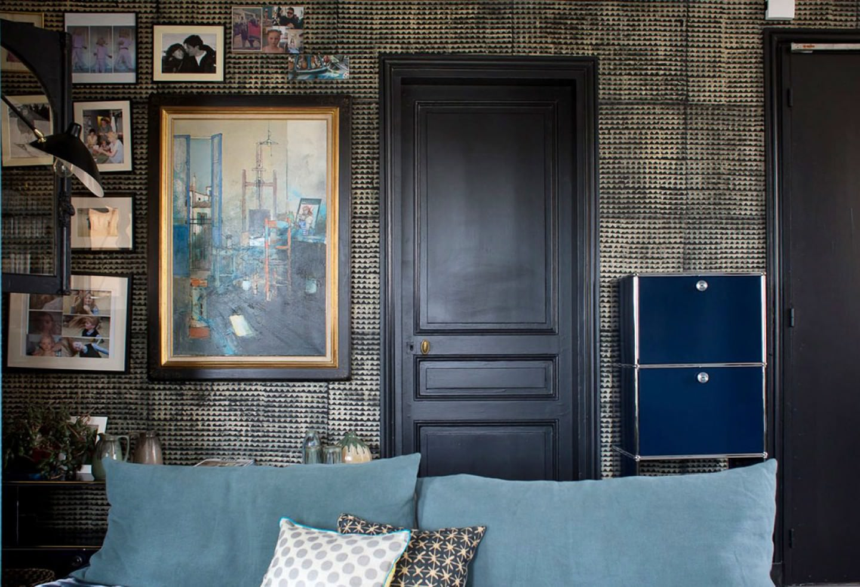 tapete gocha beige schwarz tapeten der 70er. Black Bedroom Furniture Sets. Home Design Ideas