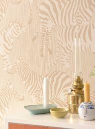 Wallpaper Safari Stripes pale brown