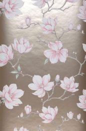 Carta da parati Magnolia beige perlato