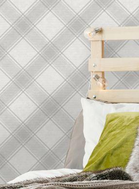 Papel pintado Redon tonos de gris Ver habitación