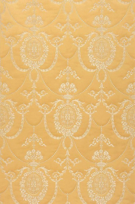 Wallpaper Pogoda Shimmering Looks like textile Baroque damask Sand Grey white shimmer