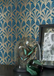 Wallpaper Obidos dark blue