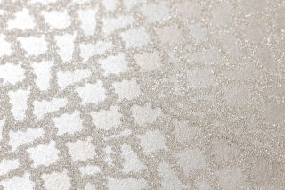 Wallpaper Yamuna Shimmering Geometrical elements Grey beige Light grey beige Pearl beige