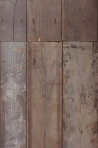Wallpaper Scrapwood 04 Matt Shabby chic Imitation wood Grey brown tones