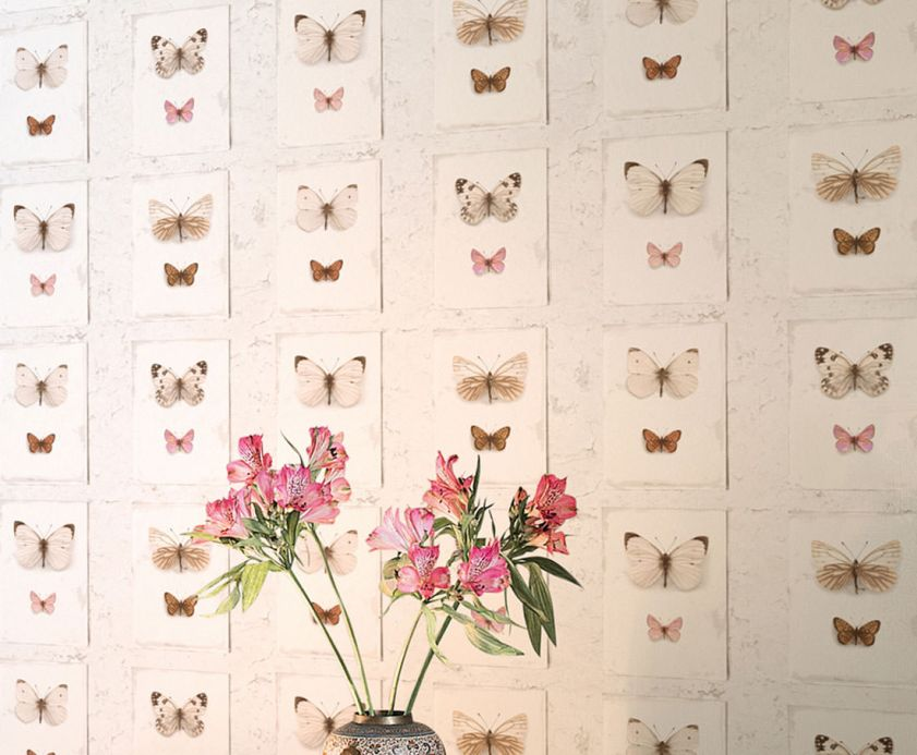 Archiv Wallpaper Mirabilis brown white Room View