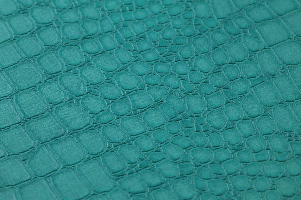 Wallpaper Caiman Matt Imitation leather Water blue