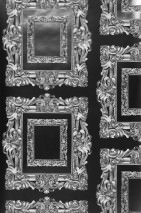 Wallpaper Mirror Shiny pattern Matt base surface Mirror Black Grey Grey white Silver lustre