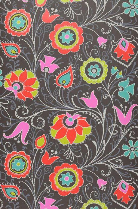 Archiv Wallpaper Flora red Roll Width