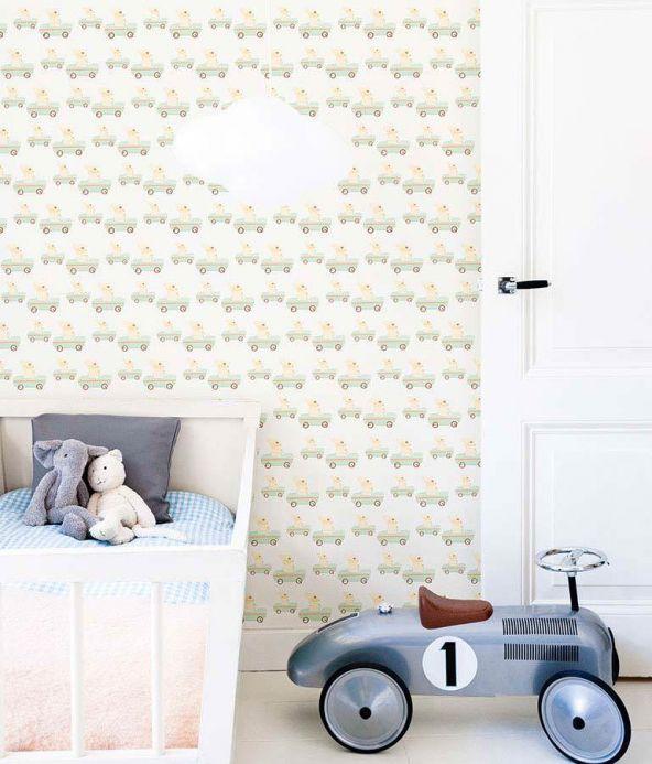 Archiv Papel de parede Bunny race verde esbranquiçado Ver quarto