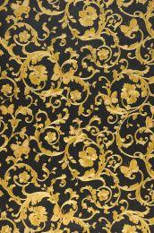 Papier peint Glory jaune doré chatoyant