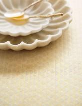 Wallpaper Kelem Shimmering pattern Iridescent base surface Stripes Mother of pearl shimmer Cream white glitter