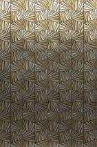 Papel de parede Gimog Brilhante Art Déco Elementos geométricos Ouro lustre Castanho dourado lustre Marrom negrusco