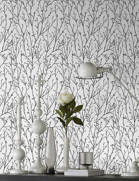 Archiv Wallpaper Nurija anthracite grey Room View