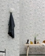 Wallpaper Pencil Drawing 05 Matt Bubbles Cream Grey tones White