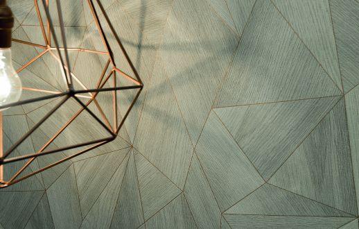 Wallpaper Zoras grey beige Room View