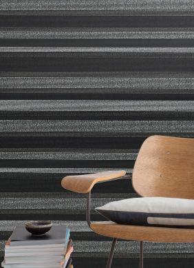 Papel pintado Tekin gris oscuro perla Ver habitación