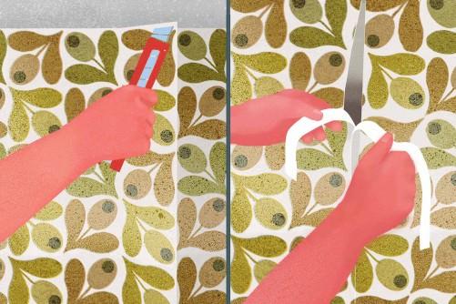 Comment Rparer Un Papier Peint Endommag Pos Au Mur  Blog
