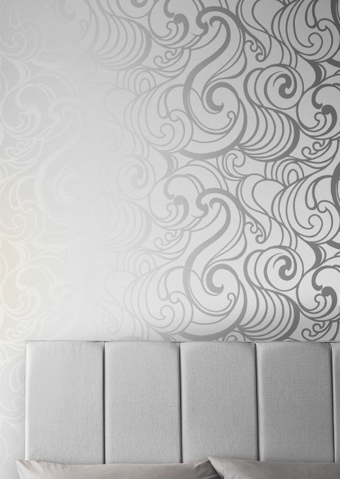 Art Nouveau Wallpaper Wallpaper Madina white Room View