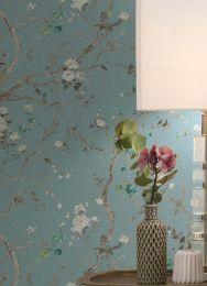 Wallpaper Malabar pastel turquoise