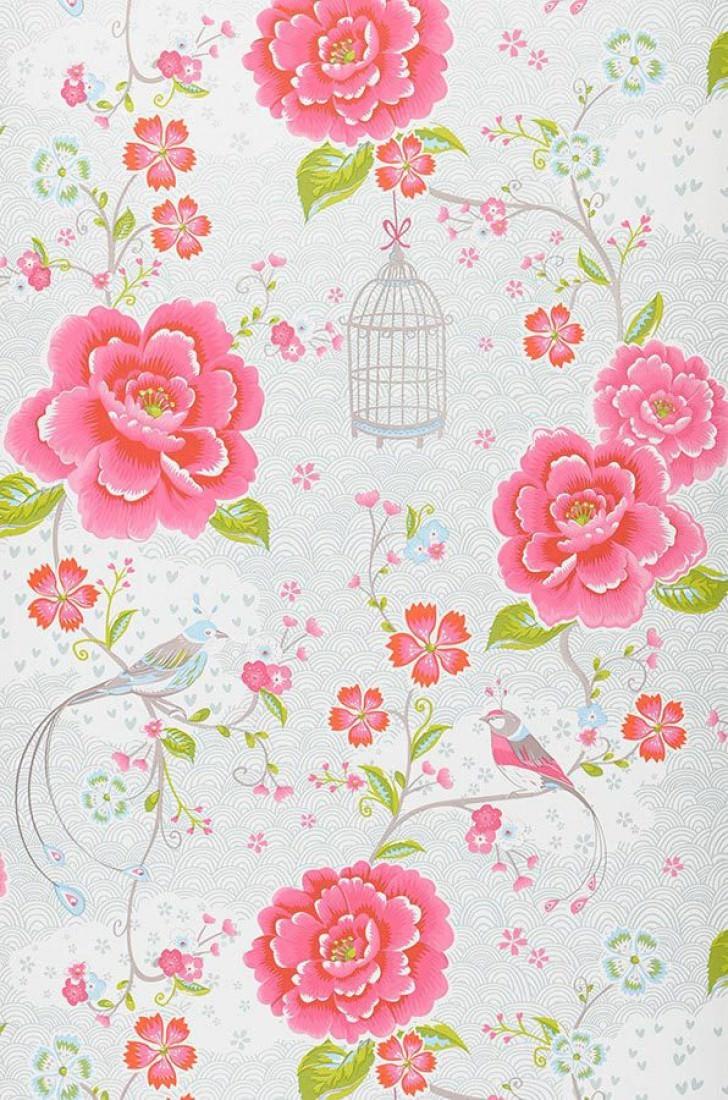 Amina papel de parede floral padr es de papel de - Papel de pared de rayas ...