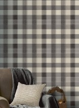 Wallpaper Narses Matt Plaid Grey tones