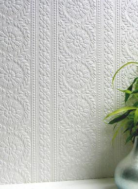 Papel pintado Townsend blanco Ver habitación