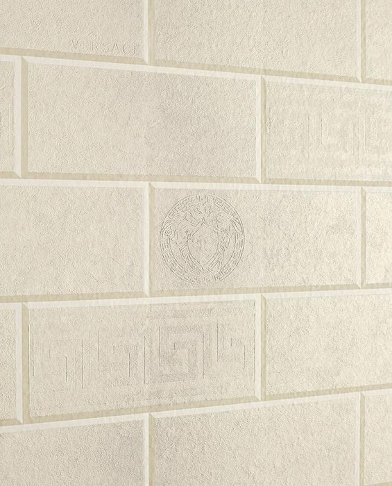 Wallpaper Neto Matt Geometrical elements Granite Imitation stone Cream Cream Grey beige