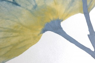 Papier peint Munroe Motif mat Surface chatoyante Vrilles de fleur Fleurs Blanc crème Vert bleu Jaune curry Beige vert Bleu vert