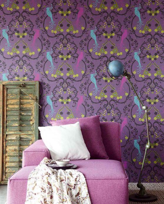 Archiv Papel pintado Bellona violeta brillante Ver habitación