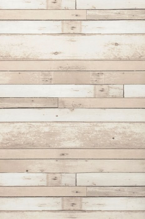 Wallpaper Shabby Planks Matt Shabby chic Old wooden boards Cream Grey beige Grey brown
