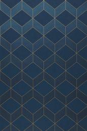 Wallpaper Barite dark blue shimmer