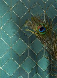Wallpaper Barite dark green shimmer