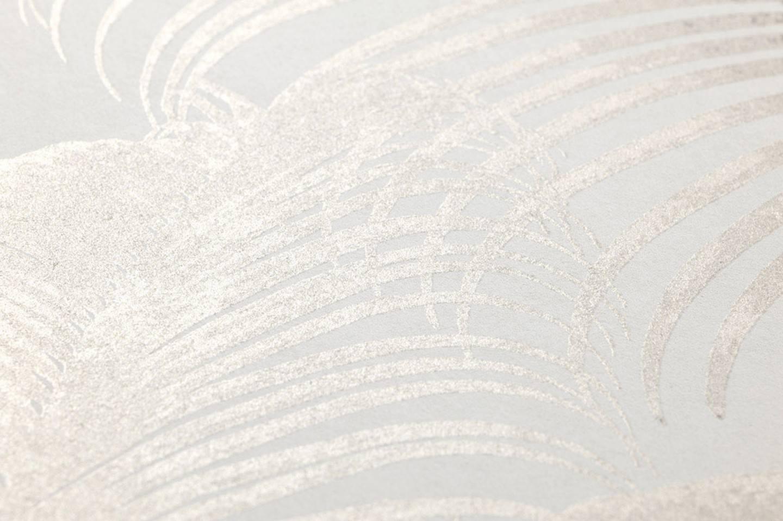 Papel pintado milva blanco crema beige gris ceo for Papel pintado de los 70