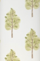 Wallpaper Jody Matt Trees Cream Pale brown Fern green