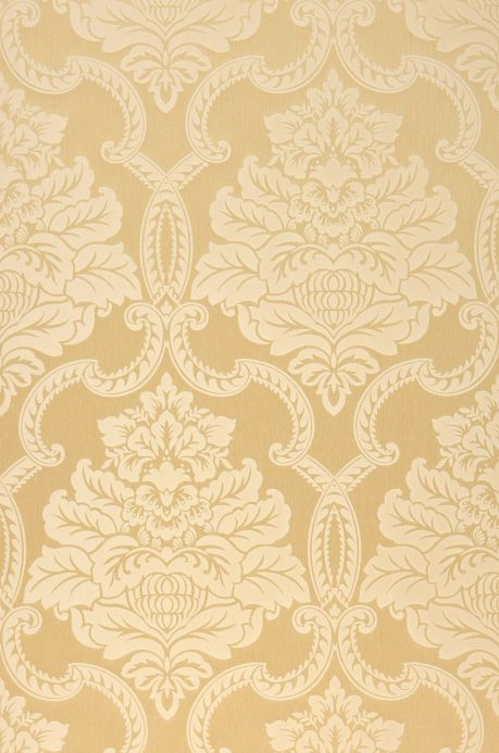 Textile wallpaper Wallpaper Amalia sand yellow Roll Width