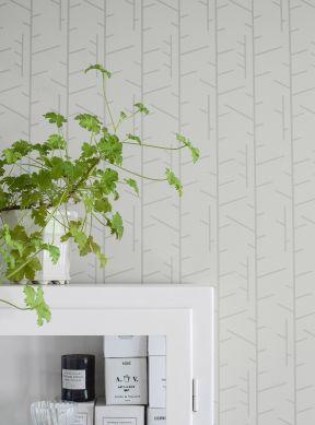 Wallpaper Arne white grey Raumansicht