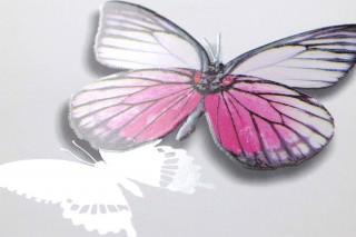 Wallpaper Jade Matt Butterflies White Yellow Green Black Silver shimmer Violet