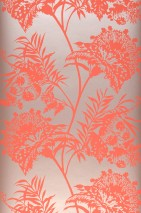 Wallpaper Liliane Matt pattern Shimmering base surface Flower tendrils Pale rosé shimmer Rosè