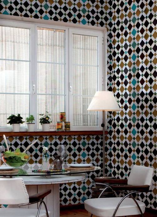 Archiv Wallpaper Feria maize yellow Room View