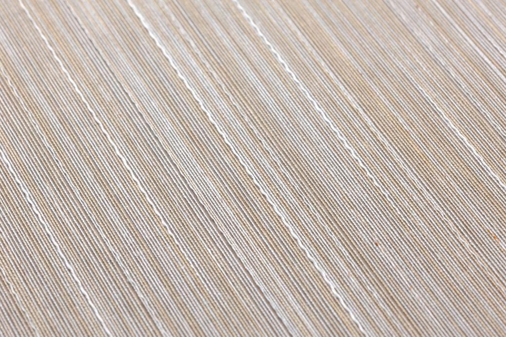 Papier peint textile Papier peint Shanti gris beige Vue détail