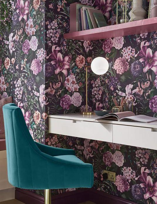 Wallpaper Wallpaper Julia violet tones Room View