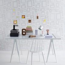 Wallpaper Frames Matt Picture frames White Gold