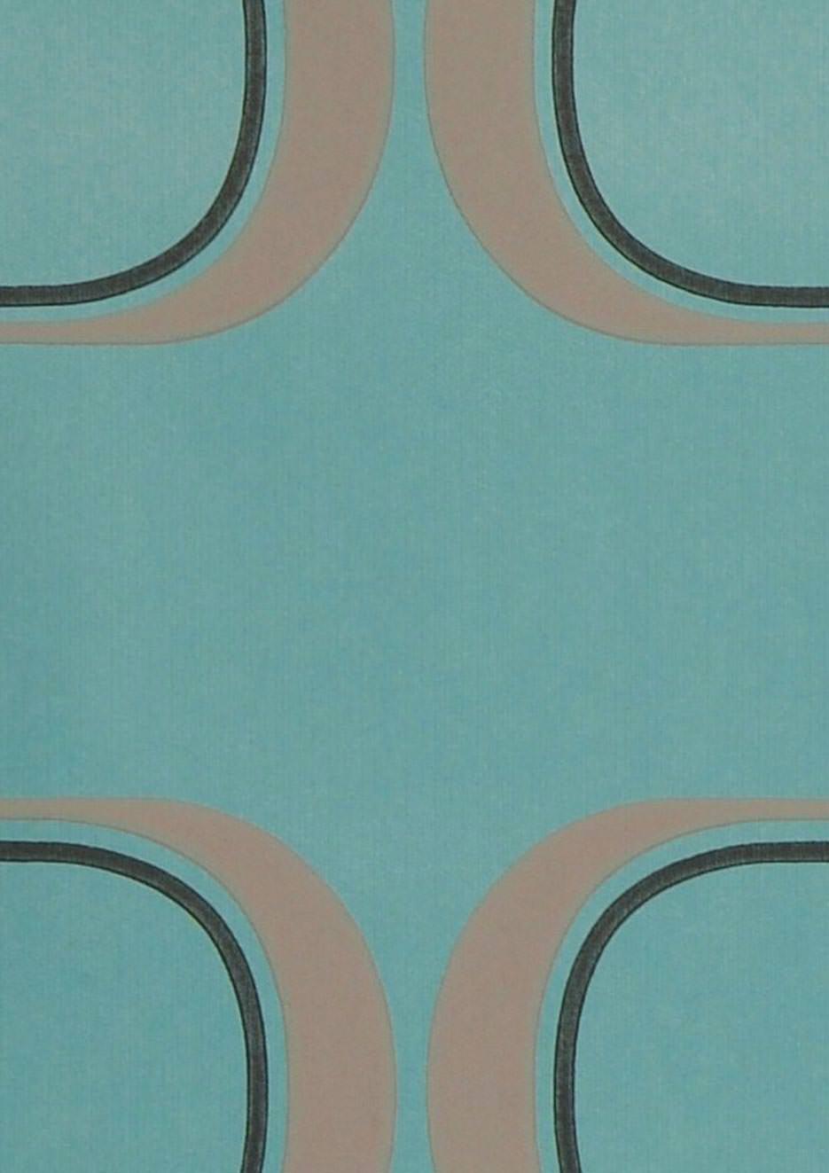 tapete dusares mintt rkis beige schwarz tapeten der 70er. Black Bedroom Furniture Sets. Home Design Ideas