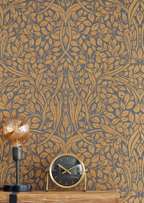 Art Nouveau Wallpaper Wallpaper Cortona matt gold Room View