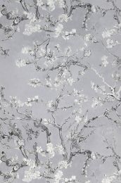 Wallpaper VanGogh Blossom light grey