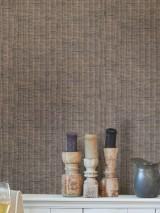 Carta da parati Rattan Weave Opaco Vimini intrecciato Grigio beige